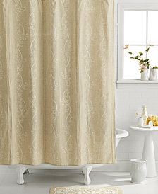 Lenox Bath Accessories French Perle Shower Curtain