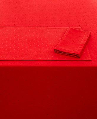 Kate Spade New York Larabee Dot Cranberry Table Linens Collection - Kate spade table linens