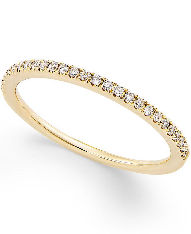 Macy's Diamond Pavé Ring (1/8 ct. t.w.) in 14k Gold or White Gold