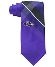 Eagles Wings Baltimore Ravens Woven Grid Tie