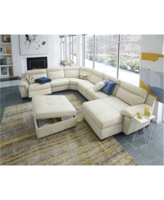 Julius Leather Power Reclining Sectional Sofa Collection, Created For Macyu0027s