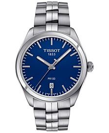 Men's Swiss PR 100 Stainless Steel Bracelet Watch 39mm T1014101104100