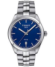Tissot Men's Swiss PR 100 Stainless Steel Bracelet Watch 39mm T1014101104100