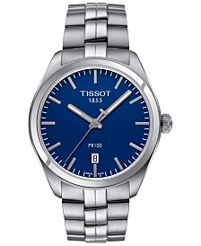 Tissot Men's Swiss PR 100 Stainless Steel Bracelet Watch 39mm T1014101104100