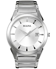 Bulova Men's Stainless Steel Bracelet Watch 38mm 96B015