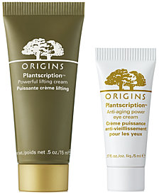 Receive a FREE 2-Pc. Plantscription Gift with any $45 Origins purchase (A $35 value!)