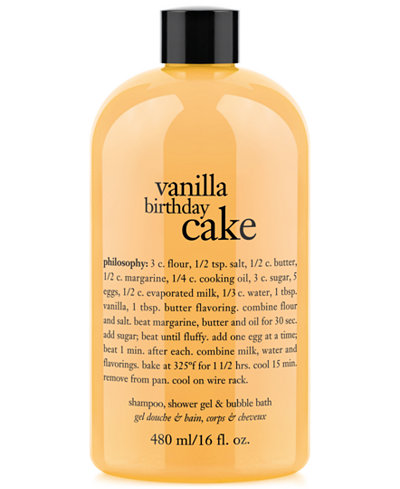 I am a huge philosophy fan and only use their 3 in 1 shower gels. I ordered this and the hot buttered rum at the same time. This one arrived first and I was pleased with the cheerful holiday bottle.