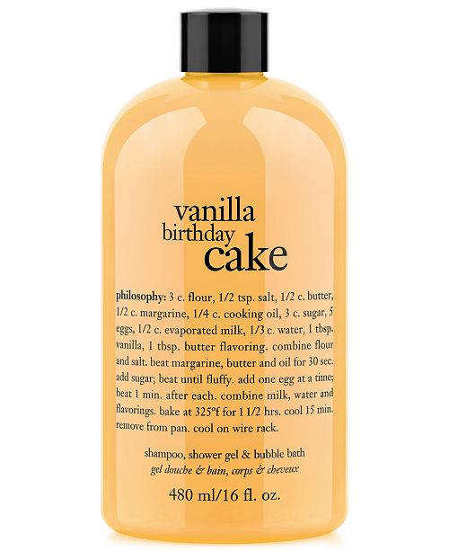 Philosophy Vanilla Birthday Cake Ultra Rich 3 In 1 Shampoo Body