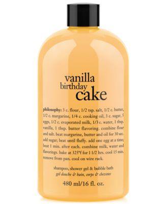 philosophy vanilla birthday cake ultra rich 3in1 shampoo body wash