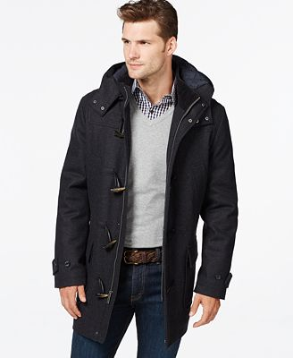Mens Hooded Duffle Coat