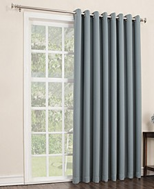 "Preston 100"" x 84"" Grommet Top Blackout Patio Curtain Panel"