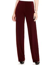 Alfani Petite Knit Wide-Leg Pants, Created for Macy's