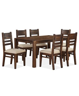 avondale 7-pc. dining room set, created for macy's, (dining table
