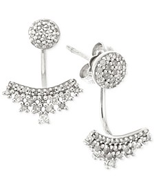 Diamond Ear Jackets (1/4 ct. t.w.) in 10k White Gold, Created for Macy's
