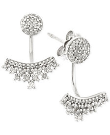 wrapped™ Diamond Ear Jackets (1/4 ct. t.w.) in 10k White Gold, Created for Macy's