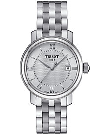 Tissot Women's Swiss Bridgeport Stainless Steel Bracelet Watch 29mm T0970101103800
