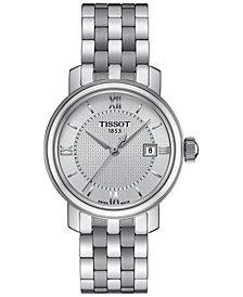 Tissot Women's Swiss Bridgeport Stainless Steel Bracelet Watch 29mm T0970101103800