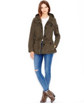 Levi's® Hooded Military Jacket - Coats - Women - Macy's