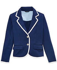 Tommy Hilfiger Contrast-Trim Blazer, Big Girls