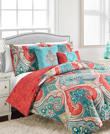 Casablanca 5 Pc Full Queen Comforter Set Bed In A Bag