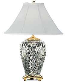 Waterford Kilkenny Brass & Crystal Table Lamp