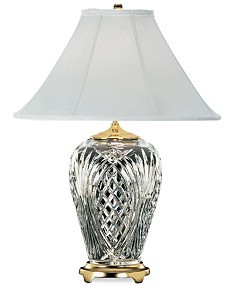 86ec38e76 Waterford Kilkenny Brass & Crystal Table Lamp