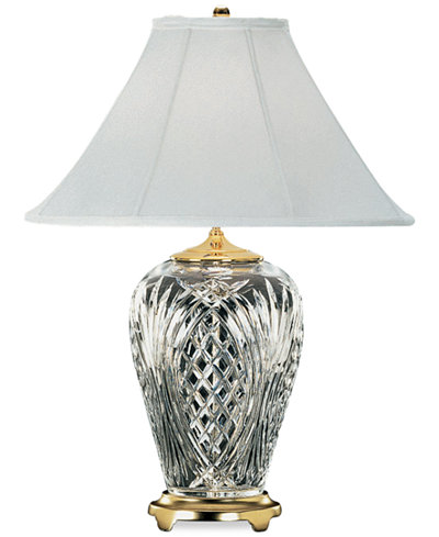 Waterford kilkenny brass crystal table lamp