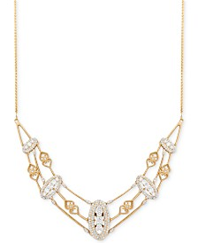 Wrapped in Love™ Antique Diamond Frontal Necklace (1-1/2 ct. t.w.) in 14k Gold, Created for Macy's