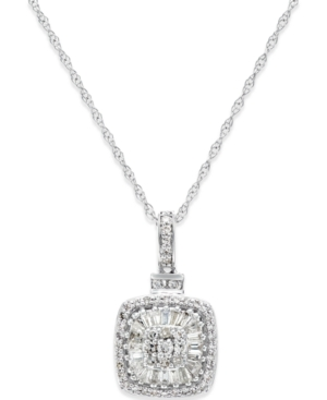 Diamond Vintage-Inspired Pendant Necklace (1/2 ct. t.w.) in 14k White Gold