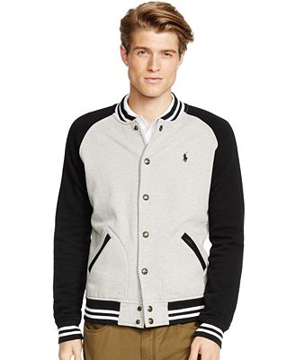 Polo Ralph Lauren Fleece Baseball Jacket - Coats & Jackets - Men ...