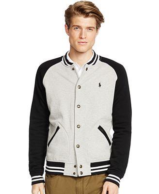 Polo Ralph Lauren Fleece Baseball Jacket - Coats & Jackets - Men ...