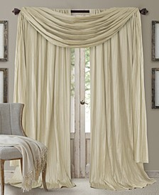 Athena Faux Silk Curtain Panels and Scarf Valance Set of 3