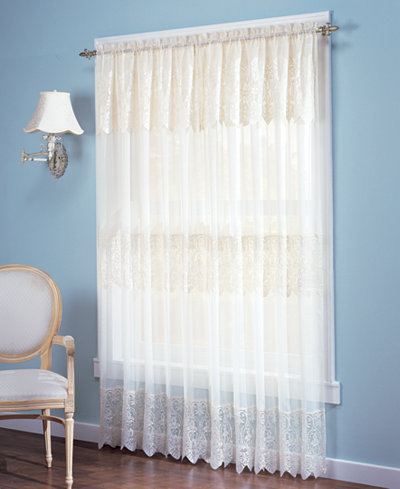 918 Joy Lace Curtain Panel With Attached Valance Collection