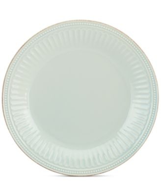 Dinnerware Stoneware French Perle Groove Ice Blue Dinner Plate