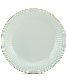 Lenox Dinnerware Stoneware French Perle Groove Ice Blue Dinner Plate