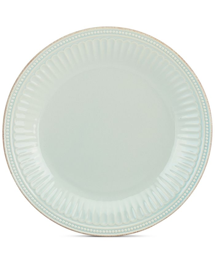 Lenox - Stoneware French Perle Groove Ice Blue Dinner Plate