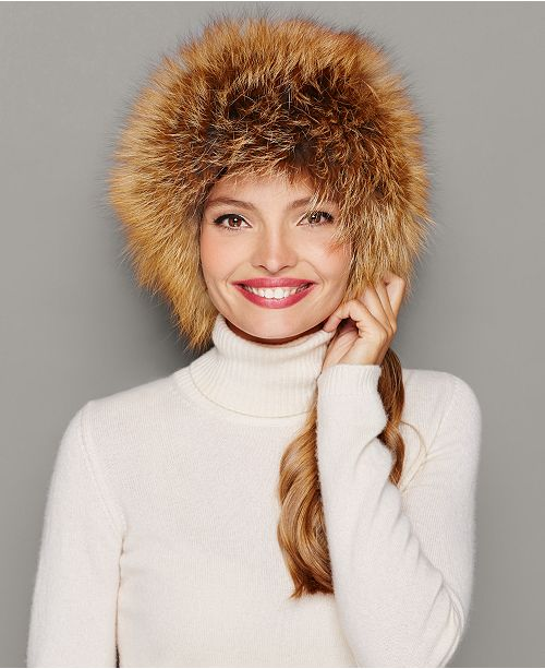 479e806a1c7d9 The Fur Vault Fox Fur Hat   Reviews - The Fur Vault - Women - Macy s