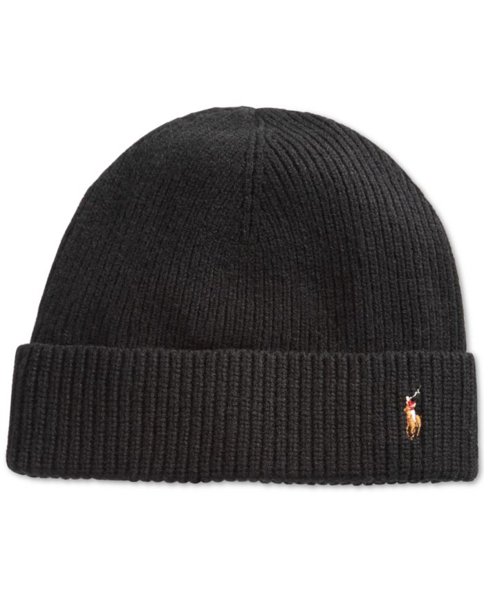 Polo Ralph Lauren Men's Signature Cold Weather Cuff Hat & Reviews - Hats, Gloves & Scarves - Men - Macy's