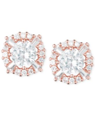 Image of Anne Klein Elevated Crystal Round Stud Earrings