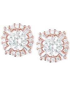 Elevated Crystal Round Stud Earrings