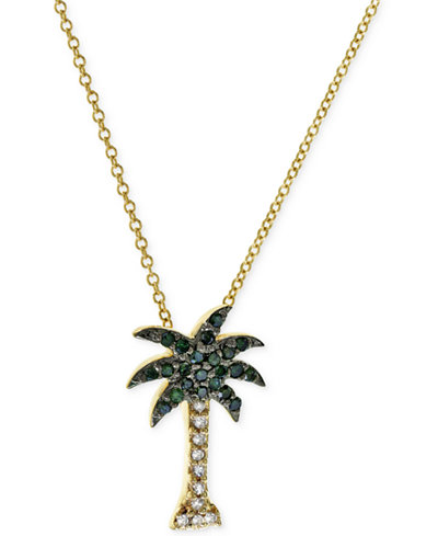 Seaside by effy green and white diamond palm tree necklace 110 ct seaside by effy green and white diamond palm tree necklace 110 ct aloadofball Image collections