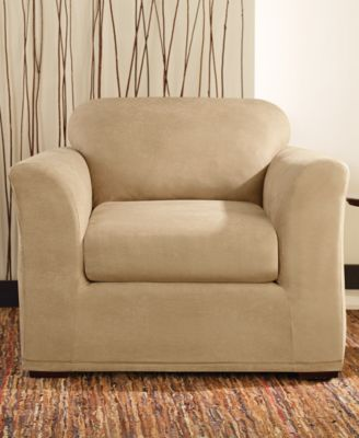 Sure Fit Stretch Faux Leather Slipcover Collection : faux leather recliner covers - islam-shia.org