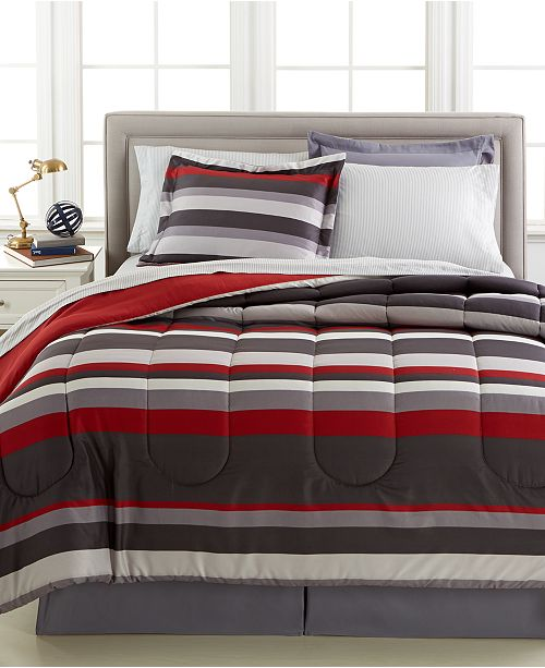 Fairfield Square Collection Austin 8-Pc. Reversible Bedding Ensembles, Created for Macy's