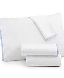 bluebellgray Corrie Solid Embroidered California King Sheet Set