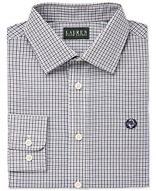 Lauren Ralph Lauren Black Tattersal Dress Shirt, Big Boys