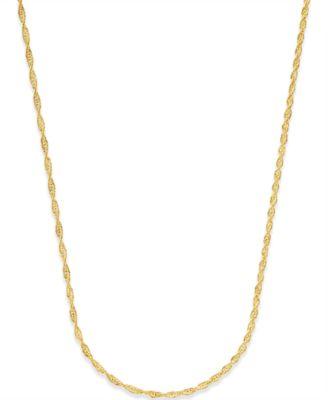 Singapore Chain in 14k Gold Jewelry Watches Macys