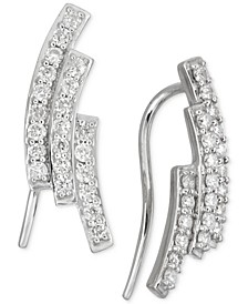 Diamond Three-Row Ear Crawlers (1/2 ct. t.w.) in 14k White Gold