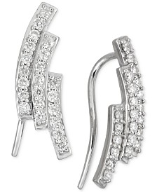 Diamond Three-Row Ear Crawlers (1/2 ct. t.w.) in 14k White Gold