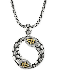 EFFY Diamond Scale Pendant Necklace (1/5 ct. t.w.) in 18k Gold and Sterling Silver