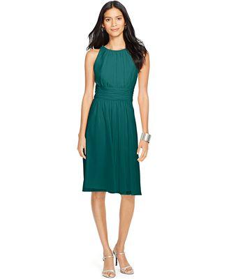 Lauren Ralph Lauren Ruched Sleeveless Dress - Dresses - Women - Macy\'s